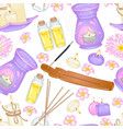 aromatherapy pattern vector image vector image