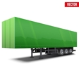 Blank green parked semi trailer vector image vector image
