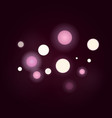 boke effect blur circle vector image
