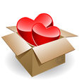 box love vector image vector image