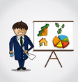 Bussinesman real estate presentation concept vector image