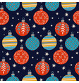 christmas round glass balls seamless pattern vector image vector image