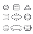 collection of many gray labels vector image vector image