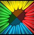 comic fight bright concept vector image vector image