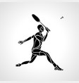 creative silhouette professional badminton vector image vector image