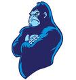 crossed arm gorilla vector image