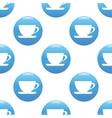 Cup sign pattern vector image vector image