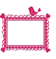 cute banner frame with bird vector image vector image