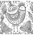 decorated bird in ethnic boho style vector image vector image