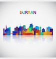 durban skyline silhouette in colorful geometric vector image vector image