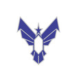 eagle wings star icon logo vector image