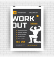 fitness flyer layout template design for sport vector image