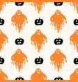 geometric halloween seamless pattern vector image