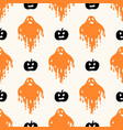 geometric halloween seamless pattern with vector image