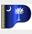 grand piano south carolina flag vector image vector image