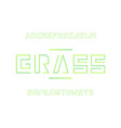grass font alphabet letters vector image vector image