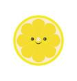 half of lemon icon isolated object lemon logo vector image vector image