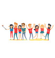happy best friends have fun together flat vector image vector image