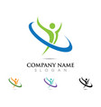 health logo template vector image vector image