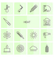 heat icons vector image vector image
