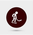 hockey player icon simple game element athletic vector image