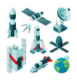 isometric pictures different tools and vector image vector image