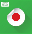 japan sticker flag icon business concept japan vector image