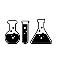 Laboratory glass vector image
