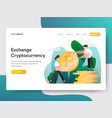 landing page template cryptocurrency exchange vector image vector image