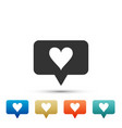 like and heart icon isolated counter notification vector image