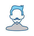 man with mustache and beard vector image vector image