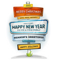 merry christmas and happy new year on urban vector image vector image