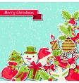 Merry Christmas background for invitation card vector image