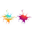 modern gradient splashes vector image vector image