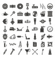 motor car part icon set simple style vector image vector image