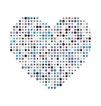 multicolor dots heart icon vector image vector image