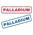Palladium Rubber Stamps vector image vector image