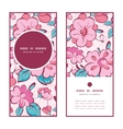 pink blue kimono flowers vertical round vector image