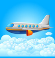 plane on a blue sky background vector image vector image