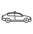 police patrol car icon outline style vector image vector image