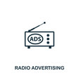 radio advertising icon premium style design from vector image