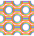 rainbow background retro seamless pattern 50s vector image vector image