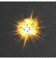 realistic explosion icon vector image vector image