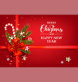 red festive decor vector image vector image