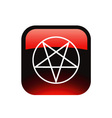 Red pentacle vector image vector image