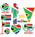 Republic of South Africa vector image vector image