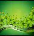saint patricks day background design with green vector image