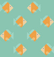 seamless eight orange fishes print vector image