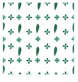 seamless pattern green leaf with green flower eps vector image vector image