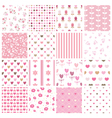 Set abstract seamless patterns